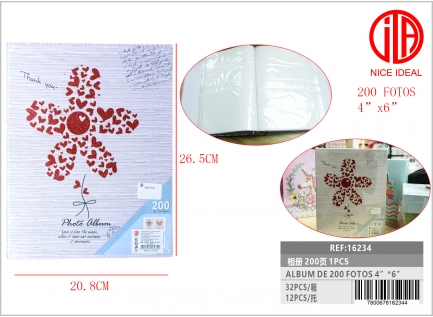 ALBUM FOR PHOTOS 200PCS 4X6 10CM X 15CM