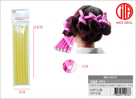 FLEXIBLE PIPES FOR HAIR 1.0 * 24