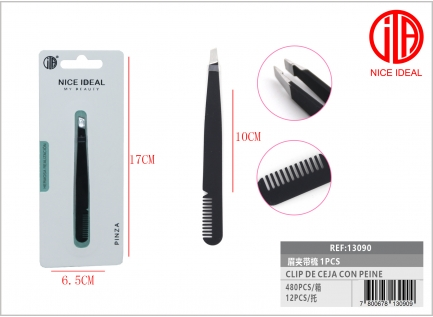 Eyebrow clip with comb