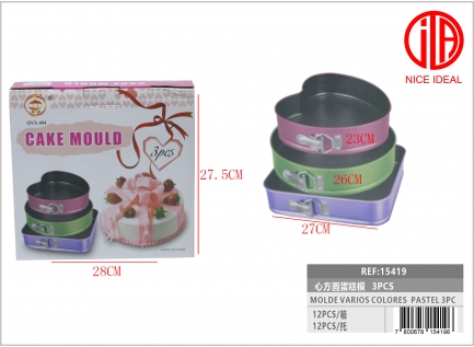 Mold VARIOUS COLORS PASTRY 3PC