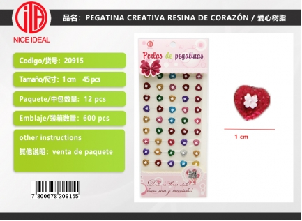 CREATIVE STICKER HEART RESIN