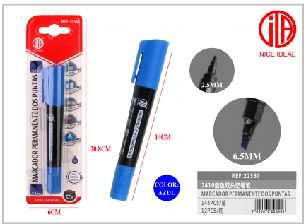 Blue double tip marker with full suction