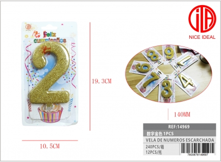 FROSTED NUMBER CANDLE